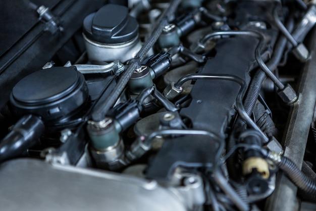 Primer plano del motor de coche Foto gratis