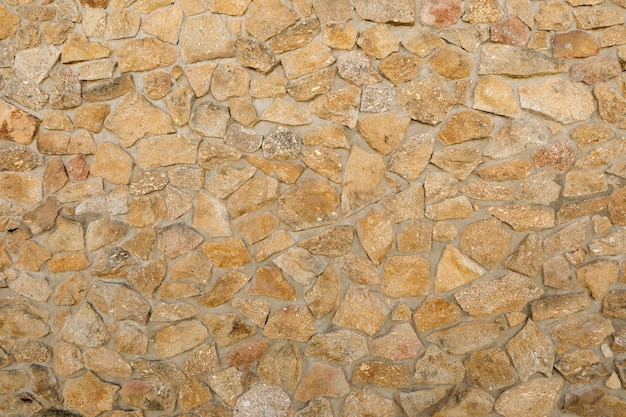 Primer plano de la pared de piedra Foto Premium