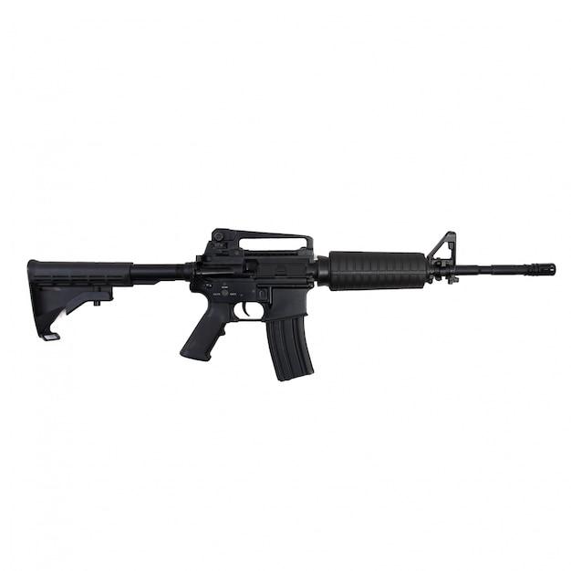Primer plano de un rifle Foto gratis