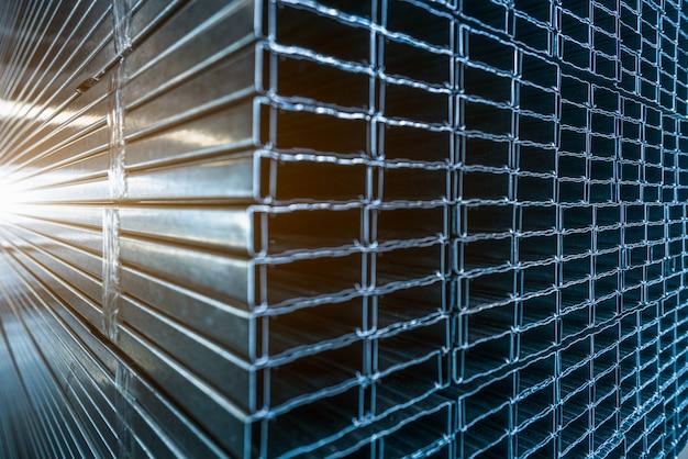Primer plano de la textura de acero inoxidable Foto gratis