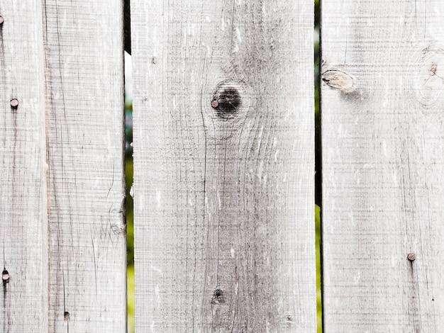 Primer plano de la valla de madera blanca con textura Foto gratis