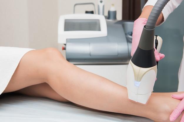 Procedimiento de depilación Foto Premium