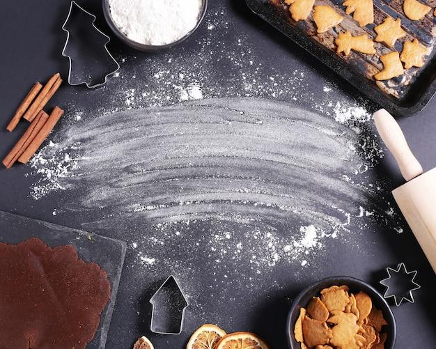 Proceso de elaboración de cookies. Foto gratis