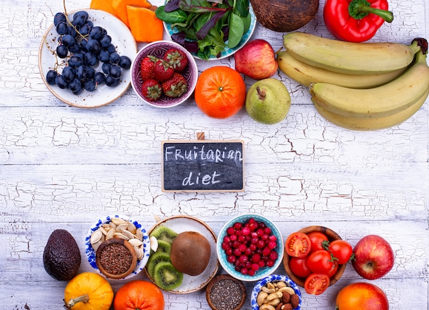 Producto saludable para dieta fruitaria Foto Premium