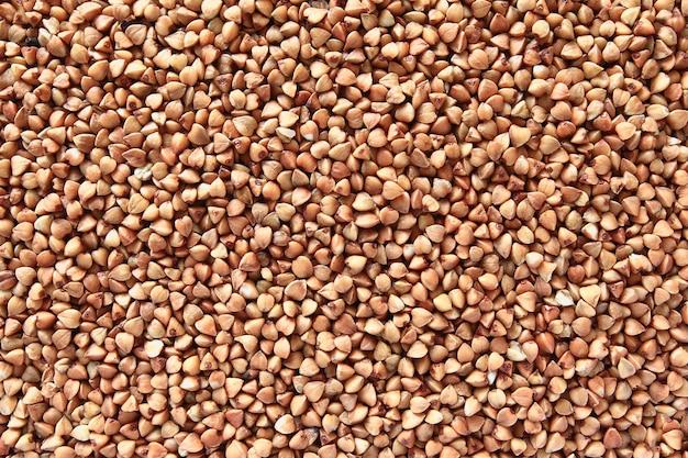 Producto suelto de trigo sarraceno a gachas y guarnición Foto Premium