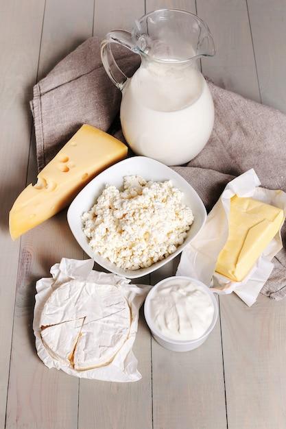 Productos lacteos Foto gratis