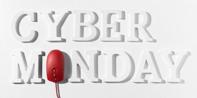 Promoción de marketing de cyber monday Foto gratis