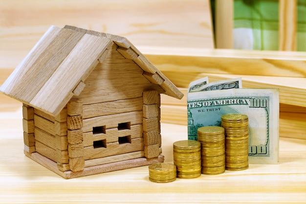 Proyecto acogedora casa. crédito por la construcción de una nueva casa fuera de la ciudad. Foto Premium