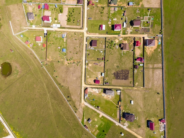 Pueblo vista desde arriba Foto gratis