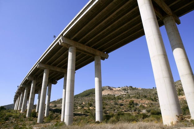 Puente visto desde abajo Foto Premium