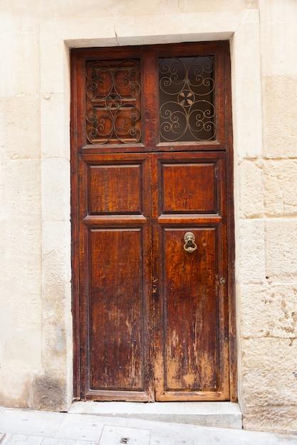 Puerta de madera vintage Foto gratis