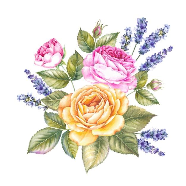 Ramo de flores rosas. Foto Premium