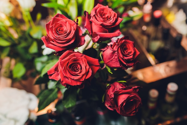 Ramo de rosas rojas Foto Premium
