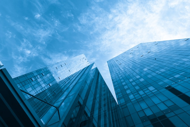 El rascacielos está en qingdao, china Foto Premium