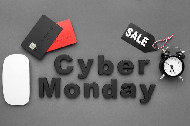 Rebajas del cyber monday con accesorios tecnológicos Foto gratis