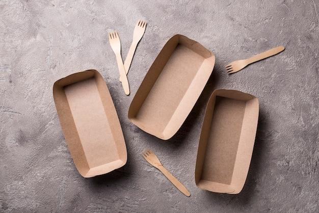 Recipientes de comida rápida ecológicos Foto Premium