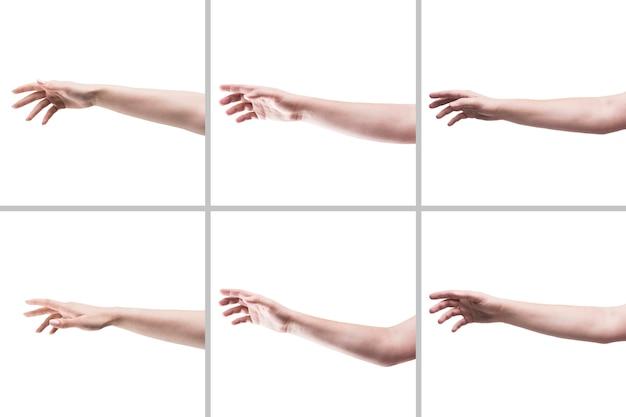 Recortar manos pidiendo ayuda Foto gratis