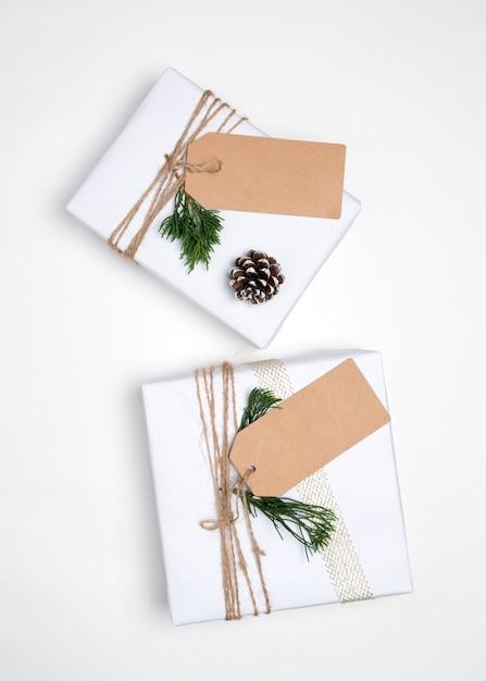 Regalo de Navidad colección de cajas de regalo con la etiqueta para ...