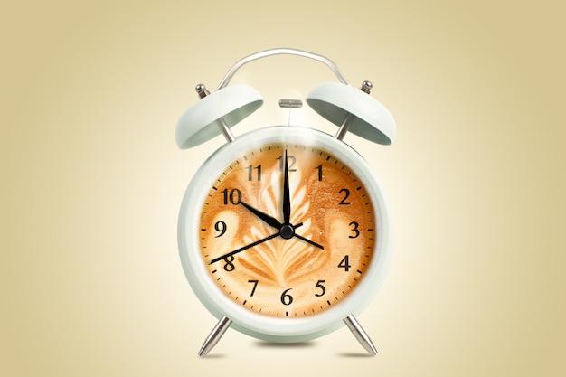 Reloj de tiempo de taza de café Foto gratis