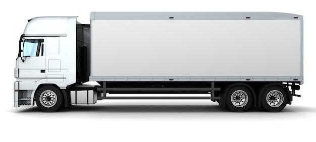 Render 3d de un camión de entrega de carga Foto gratis
