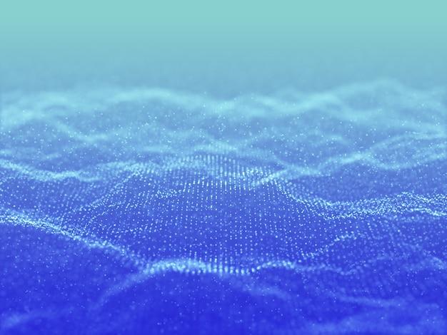 Render 3d de un fondo abstracto con un diseño de partículas cibernéticas Foto gratis