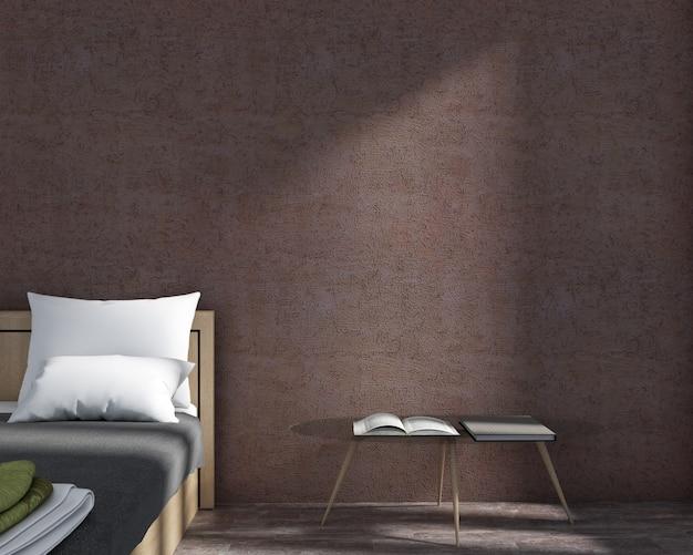 Representacion 3d De Habitaciones De Estilo Minimalista Y Papel