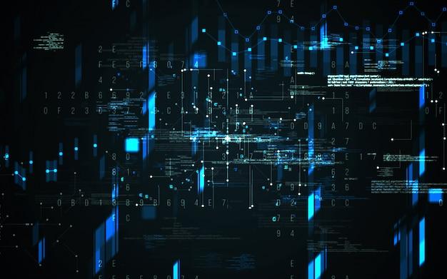Resumen de antecedentes digitales. concepto futurista de tecnología de información de big data. cadena de bloque Foto Premium
