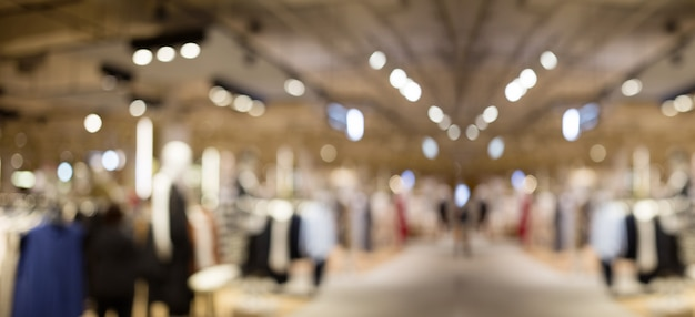 Resumen blur centro comercial para el cliente Foto Premium