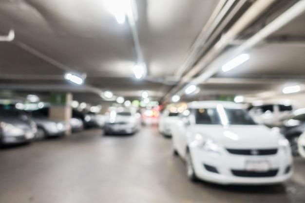 Resumen borroso aparcamiento de coches Foto gratis