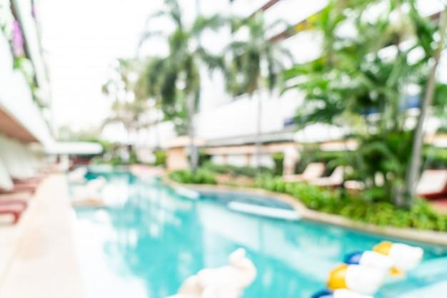 Resumen borroso en el hotel resort como fondo borroso Foto Premium