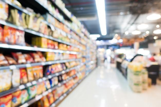 Resumen de difuminado supermercado en los grandes almacenes Foto gratis