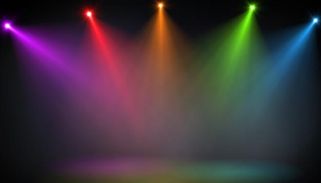 135ba78a6 Resumen de escenario vacío con focos de colores | Descargar Fotos ...