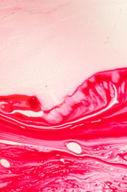 Resumen ondas rojas en aceite Foto gratis