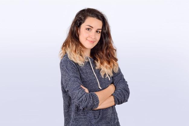 Retrato de joven latina Foto Premium