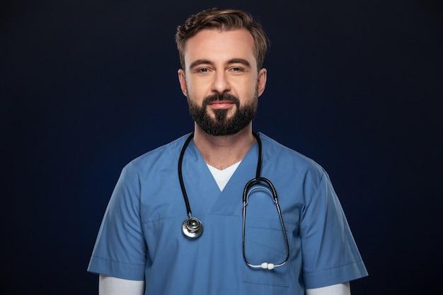 Retrato de un seguro médico masculino Foto gratis