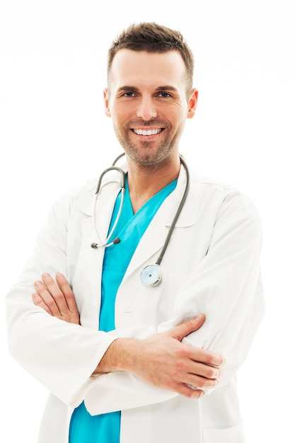 Retrato de seguro médico masculino Foto gratis