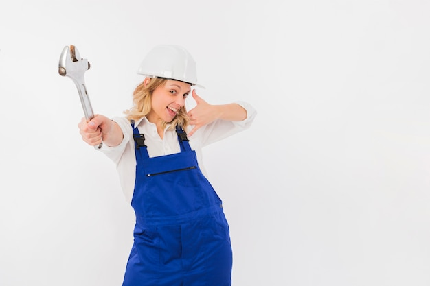 Retrato de trabajadora Foto gratis