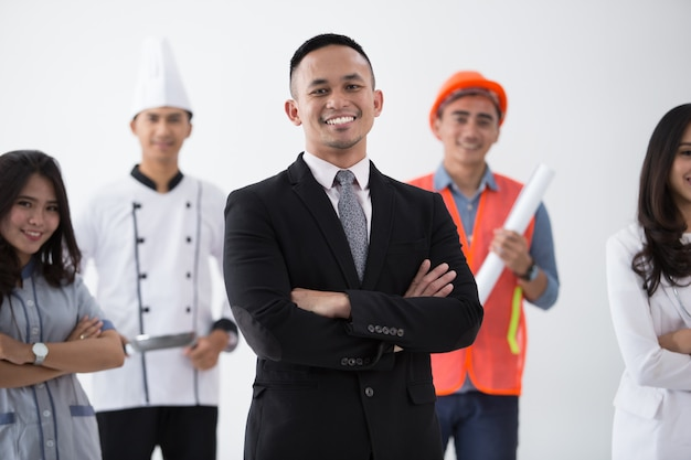Retrato de varias profesiones. Foto Premium