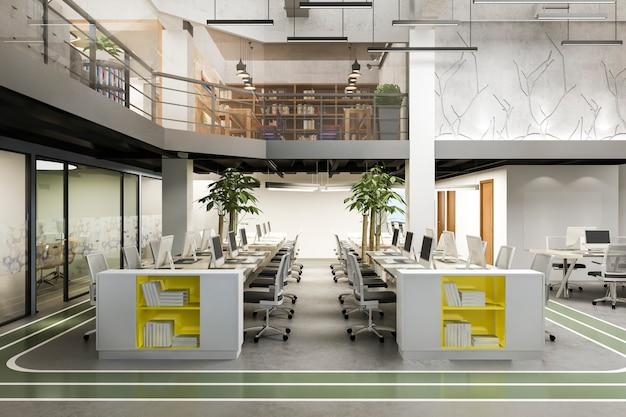 Reunión de negocios y sala de trabajo en edificio de oficinas Foto gratis
