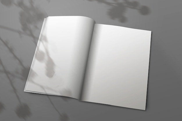 Revista de dos hojas a4 Foto gratis