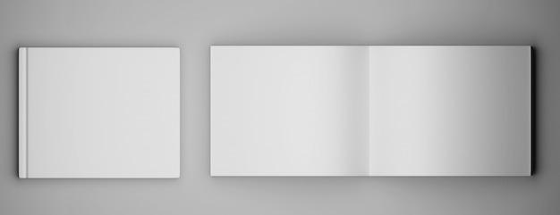 Revista de folleto cuadrado en blanco Foto Premium