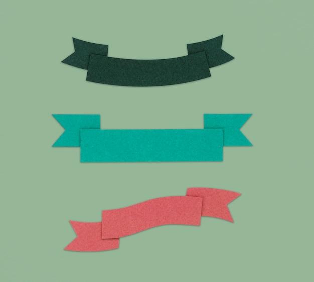 Ribbon decoration graphic sign symbol Foto gratis