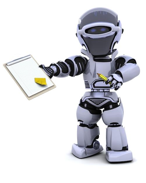 Robot con sujetapapeles Foto gratis