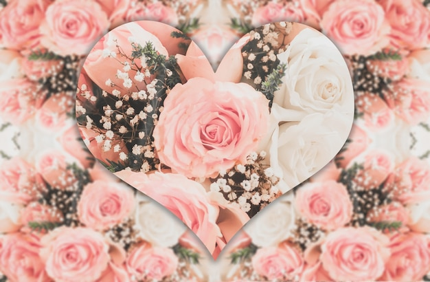 Rosas Rosas Con Forma De Corazón Descargar Fotos Gratis