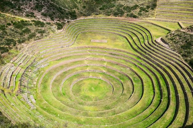 Ruinas Incas De Moray Foto Premium