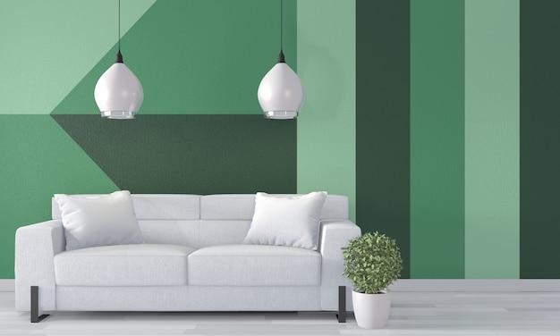 sala de pintura de pared de color Sala Verde Arte Geomtrico De La Pared Color Completo De La