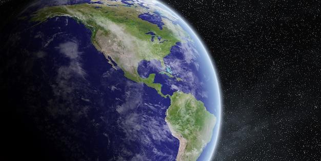 Salida del sol sobre el planeta tierra en el espacio Foto Premium