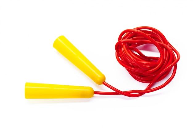 Saltar la cuerda aislado en blanco Foto Premium