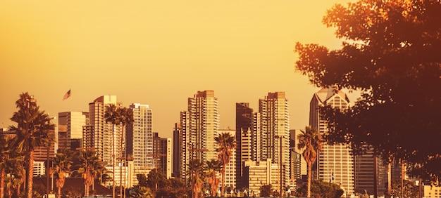 San diego sunset panorama Foto gratis