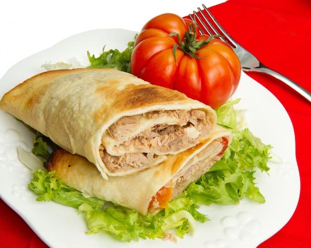 Sandwich de atún Foto Premium